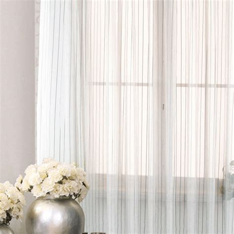 striped sheer curtains modern lines striped sheer curtains for living room