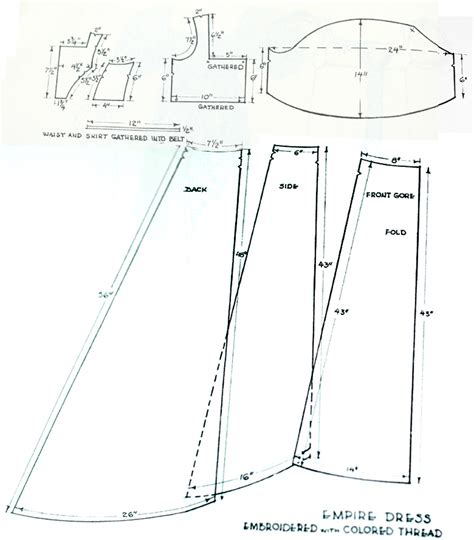 pattern making gown sew a regency gown