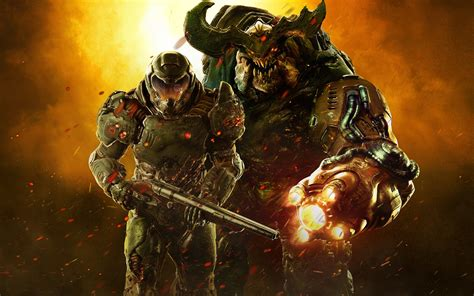 wallpaper doom  soldiers  uhd  picture image