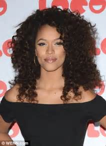 Long And Foster x factor s tamera foster shows off new curly hair style at