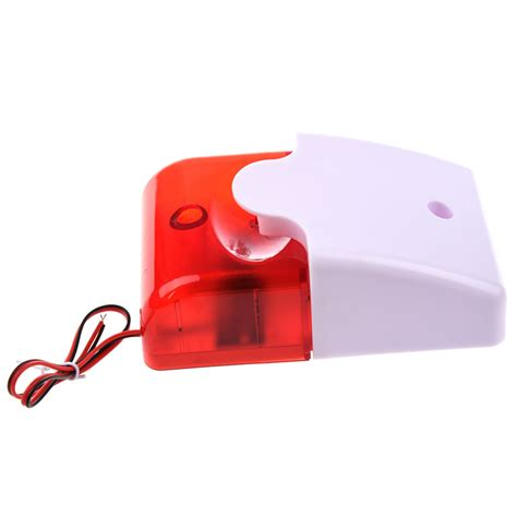 12v wired sound alarm strobe light siren home