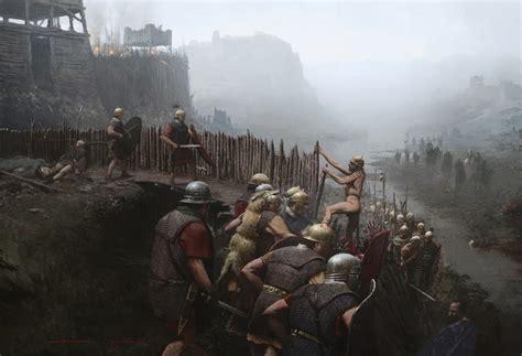 siege alesia gallic wars on celtic warriors legion