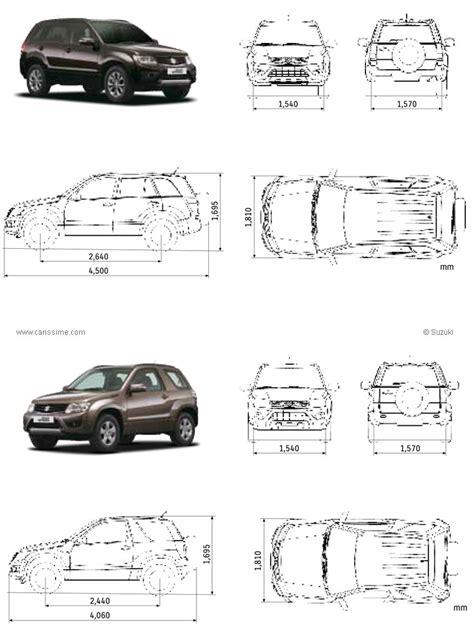 Dimensions Of Suzuki Grand Vitara Suzuki Grand Vitara Fiche Technique Dimensions