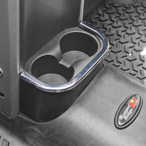 Jeep Cup Holders All Things Jeep Chrome Rear Cup Holder Accent By Rugged