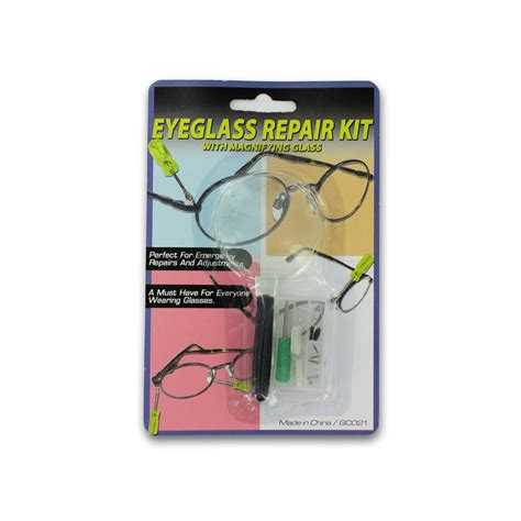 wholesale eyeglass repair kit with magnifying glass