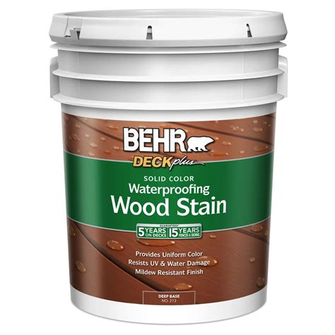 behr premium   gal deck  deep tint base solid