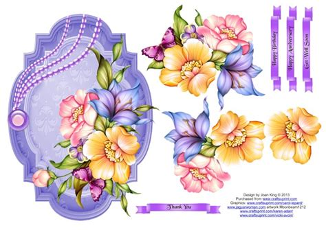 Free Decoupage Downloads For Card - for my floral decoupage toppers