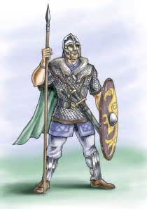 anglo saxon warrior 7th century ad by jason pope http