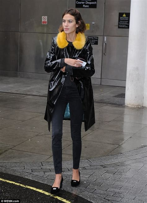 Shiny Fashion Tv The Style Council Is Back by Chung Steps In Yellow Fur Collared Pvc Mac After