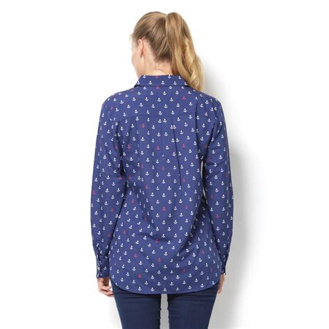 Blouse Carrie c anchor print carrie blouse qvc uk