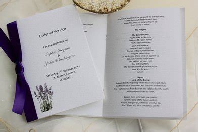 layout order of service wedding order of service template