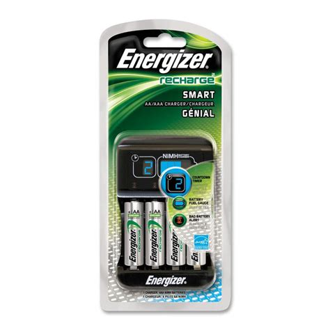 smart charger aa energizer recharge smart charger with 4 aa nimh batteries