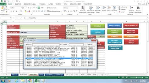 sistema de control de formularios sistema de control quot registro documento de venta quot excel