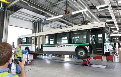 state of the transit garage up and running in kamloops