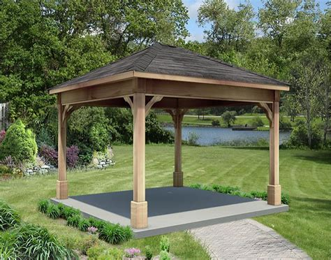 Backyard Creations Steel Roof Gazebo 22 Amazing Gazebos Wooden Frame Pixelmari