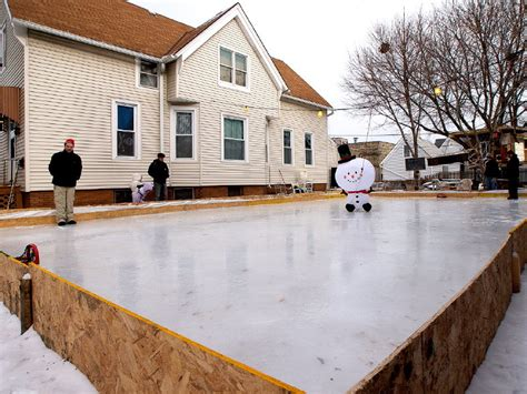 make a backyard ice rink diy ice rinks rally families neighbors onmilwaukee