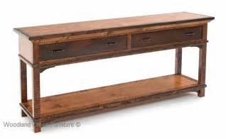 refined rustic sofa table sophisticated mountain
