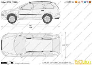 Volvo Xc90 Dimensions The Blueprints Vector Drawing Volvo Xc90