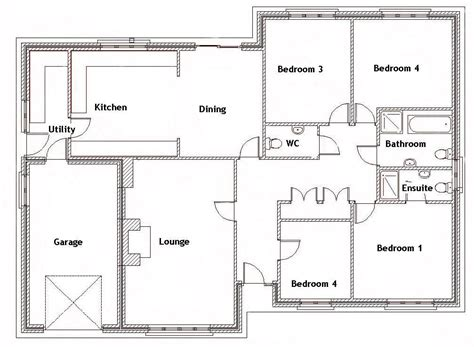 4 Bedroom Bungalow Plan by Split Bedroom House Plans For 1500 Sq Ft 4 Bedroom House
