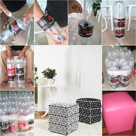 Diy Plastic Bottle L by Diy Simple Ottoman From Plastic Bottles