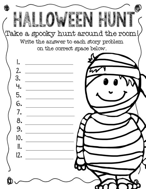 halloween coloring pages math 14 best images of fall math worksheets 4th grade 4th