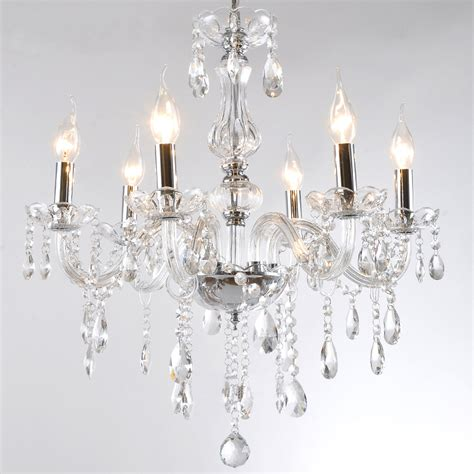 discount   bulb european candle crystal chandeliers light ceiling bedroom living room lamp