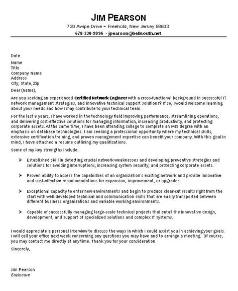 It Cover Letter by Sle It Cover Letter