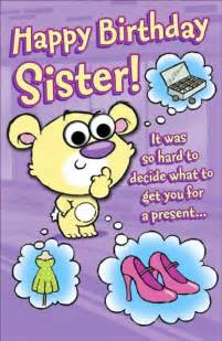 happy birthday cards sister funny