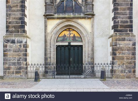 church s thesis wittenberg door actor of martin luther at church door