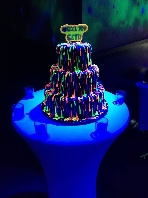 wow  guests   glow   dark party topped