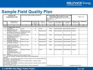 quality assurance plan template quality management