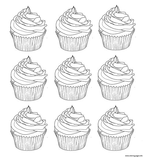 coloring pages for adults cupcakes cupcakes warhol coloring pages printable