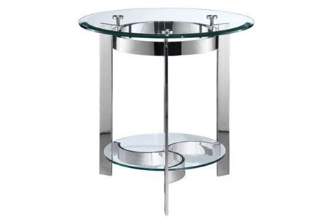chrome accent tables curvy chrome glass end table at gardner white