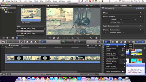 final cut pro hd final cut pro x tutorial slow motion hd youtube
