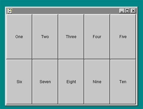 awt gridlayout 8 1 java awt package layout
