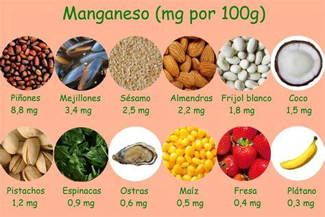 que alimentos contienen zinc 75 alimentos ricos en manganeso calor 237 as y nutrientes