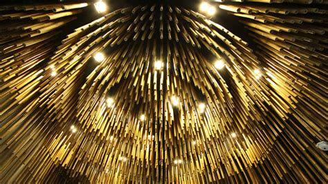 Bamboo Ceiling Design by Dramatic Style At Chalachol Salon In Bangkok The Parlour
