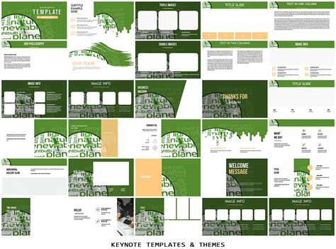 Environment And Climate Change Keynote Templates Imaginelayout Com Climate Change Brochure Template