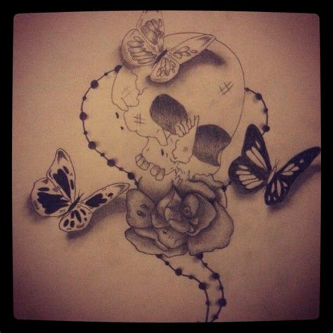 skull butterfly rose tattoo skull roses butterfly sketch skull tattoos