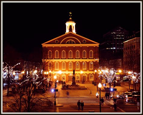 Photo Of The Moment By The Lights Of Faneuil Hall Boston Lights Boston Ma