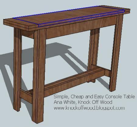 simple cheap  easy console table diy sofa table diy