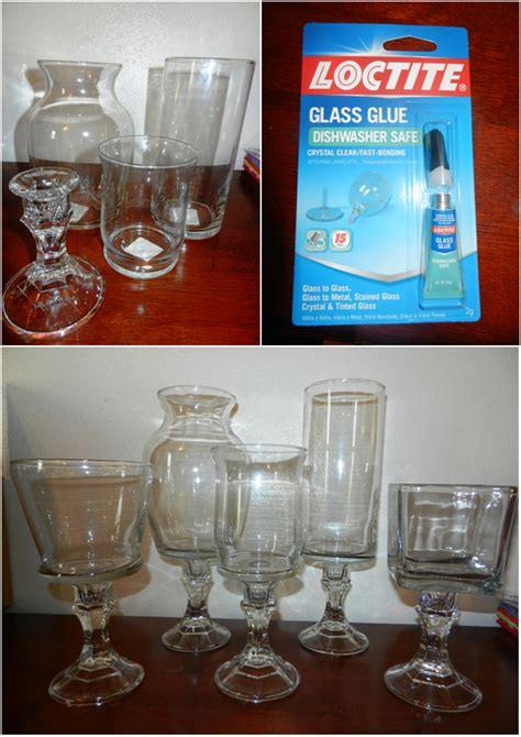 floreros dollar tree dollar tree candlestick holders and vases plus glass glue