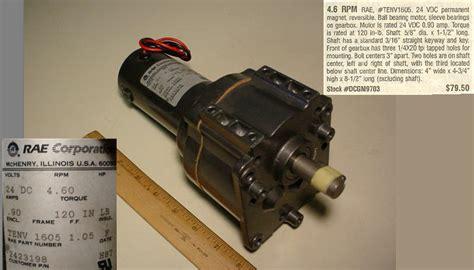 1 Pasang Motor Dc Gearbox 12vdc Merk Barber Rockford Usa 2 Unit c h surplus dc motors