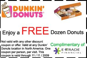 the dozen coupon code printable dunkin donuts coupons printable coupons