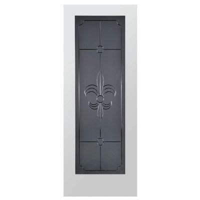 glass interior doors home depot steves sons fleur de lis full lite solid core pine