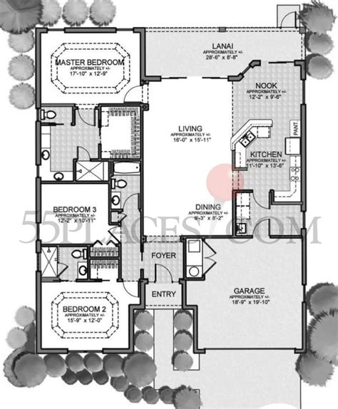 the villages home floor plans zinnia floorplan 2021 sq ft the villages 174 55places