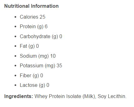 b protein ingredients optifast shakes reviews complete nutrition facts