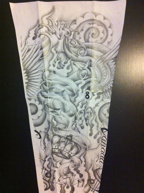 random tattoo sleeve design sleeve design by tattoosuzette on deviantart