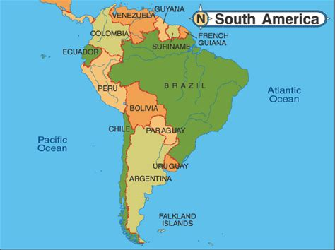 map of american oceans what is in south america emaps world