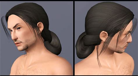 download hair tied up mod the sims two historical asian inspired long tied
